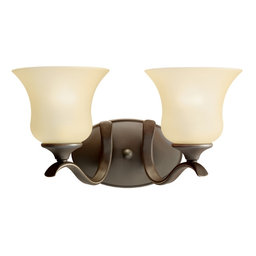 Kichler Lighting Kichler Bathroom Light with Beige / Cream Shades in Olde Bronze Finish 10637OZ