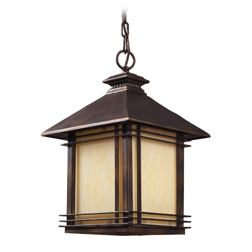 Elk Lighting Outdoor Hanging Light in Hazlenut Bronze Finish 42103/1