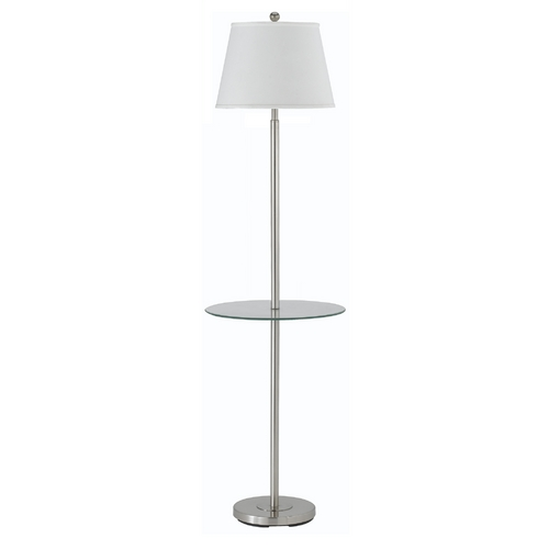 CAL Lighting Gallery Glass Tray Floor Lamp with Shade BO-2077-GT/SH-1249