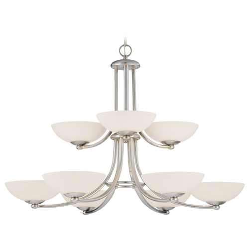 Dolan Designs Lighting Rainier 9-Light Two-Tier Chandelier 2902-09