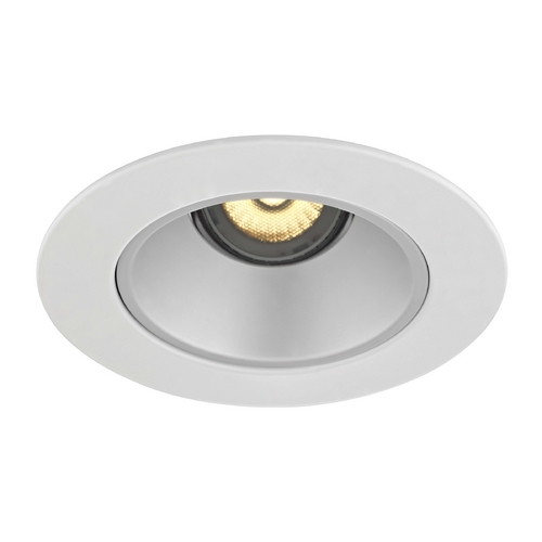 Recesso Lighting by Dolan Designs GU10 Adjustable Satin Reflector Trim for 4-Inch Line and Low Voltage Recessed Cans T414S-WH