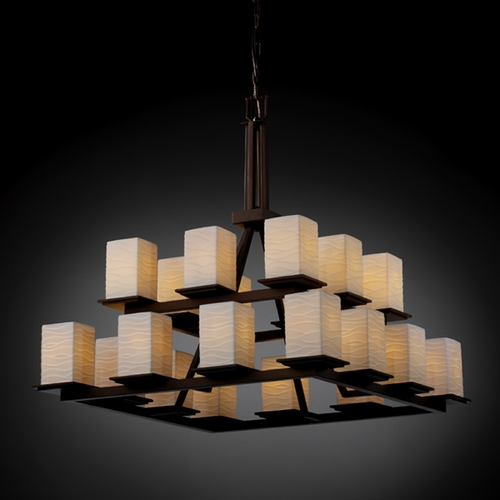 Justice Design Group Justice Design Group Limoges Collection Chandelier POR-8667-15-WAVE-DBRZ