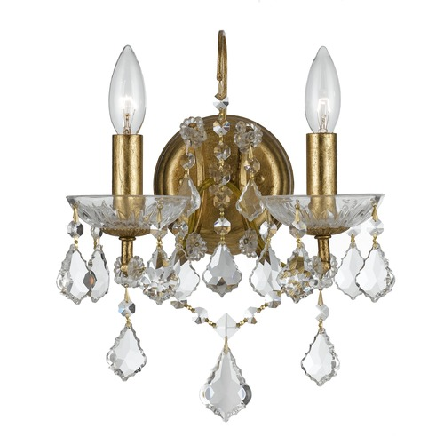 Crystorama Lighting Crystorama Lighting Filmore Antique Gold Sconce 4452-GA-CL-S
