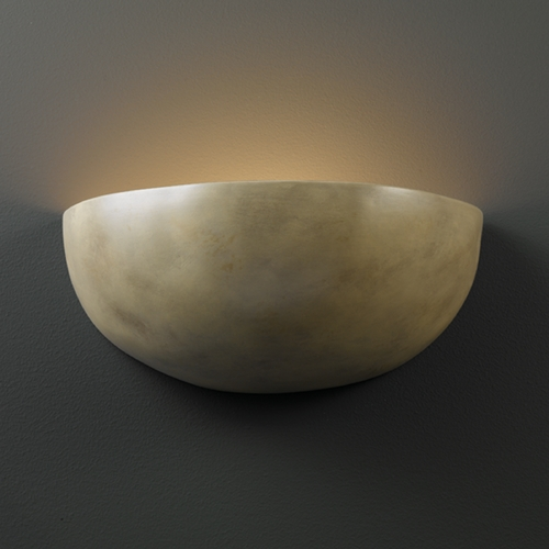 Justice Design Group Sconce Wall Light in Navarro Sand Finish CER-2190-NAVS