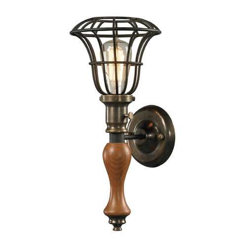 Elk Lighting Sconce Wall Light in Vintage Rust Finish 14231/1