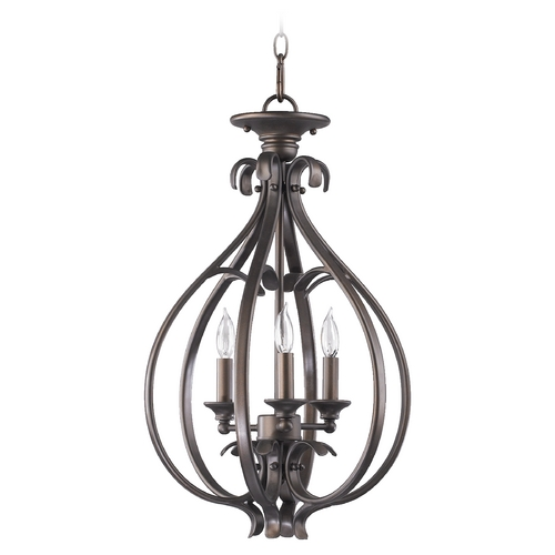 Quorum Lighting Quorum Lighting Randolph Oiled Bronze Pendant Light 6794-3-86