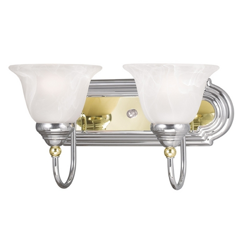 Livex Lighting Livex Lighting Belmont Chrome & Polished Brass Bathroom Light 1002-52