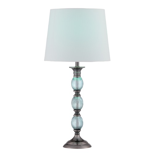 Lite Source Lighting Lite Source Lighting Marin Gun Metal, Turquoise Table Lamp with Empire Shade LS-22714