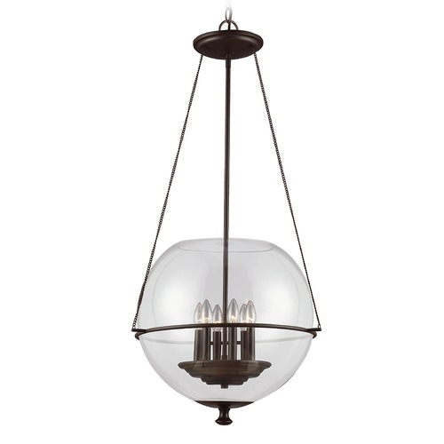 Sea Gull Lighting Sea Gull Lighting Havenwood Autumn Bronze Pendant Light with Globe Shade 6511906-715