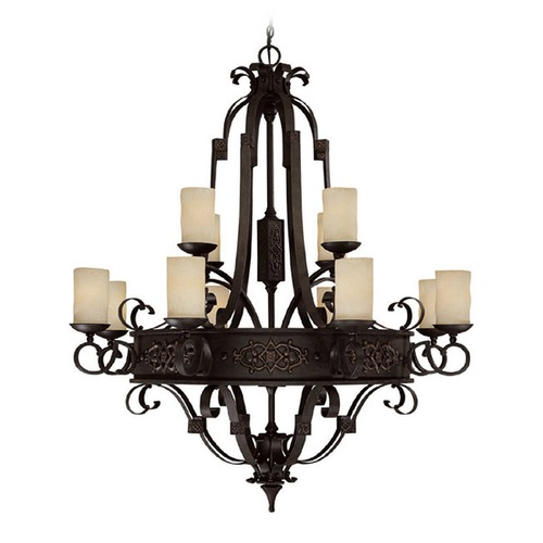 Capital Lighting Capital Lighting River Crest Rustic Iron Chandelier 3602RI-125