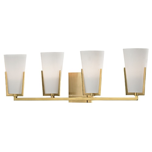 Hudson Valley Lighting Upton 4 Light Bathroom Light - Aged Brass 1804-AGB