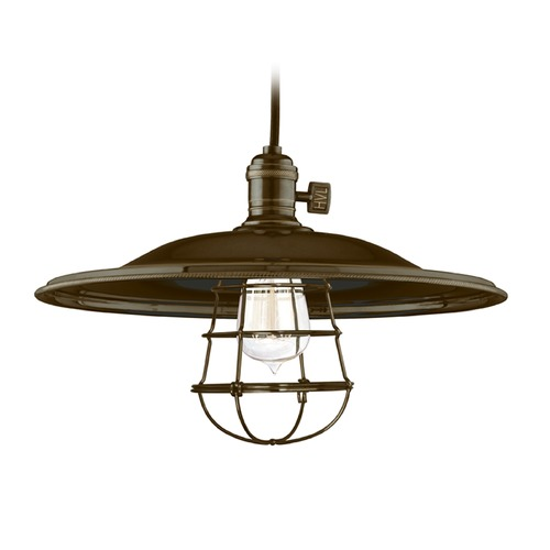Hudson Valley Lighting Hudson Valley Lighting Heirloom Old Bronze Pendant Light with Bowl / Dome Shade 8002-OB-MM2-WG