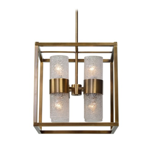 Uttermost Lighting Mid-Century Modern Pendant Light Brass Marinot by Uttermost Lighting 21282
