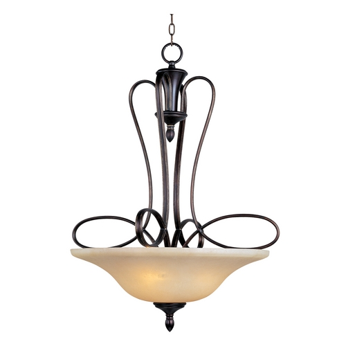 Maxim Lighting Maxim Lighting Infinity Oil Rubbed Bronze Pendant Light with Bell Shade 21303WSOI