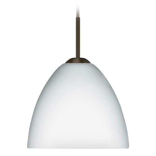 Besa Lighting Besa Lighting Sasha Bronze Mini-Pendant Light with Bowl / Dome Shade 1BT-757207-BR
