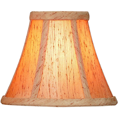 Lite Source Lighting Copper Jacquard Bell Lamp Shade with Clip-On Assembly CH553-6