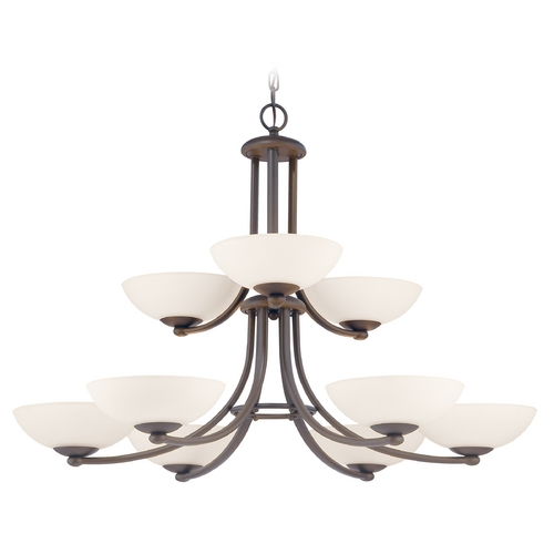Dolan Designs Lighting Rainier 9-Light Two-Tier Chandelier 2902-78