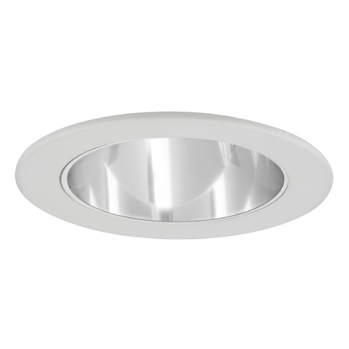 Recesso Lighting by Dolan Designs Clear Reflector GU10 LED Deep Trim for 4-Inch Line and Low Voltage Recessed Cans T402C-WH