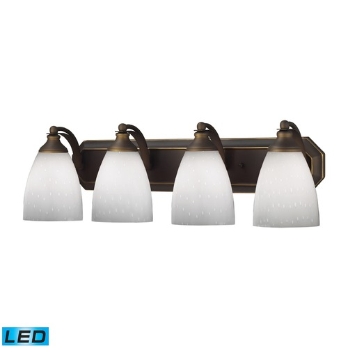 Elk Lighting Elk Lighting Bath and Spa Aged Bronze LED Bathroom Light 570-4B-WH-LED