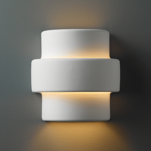 Justice Design Group Sconce Wall Light in Bisque Finish CER-2205-BIS
