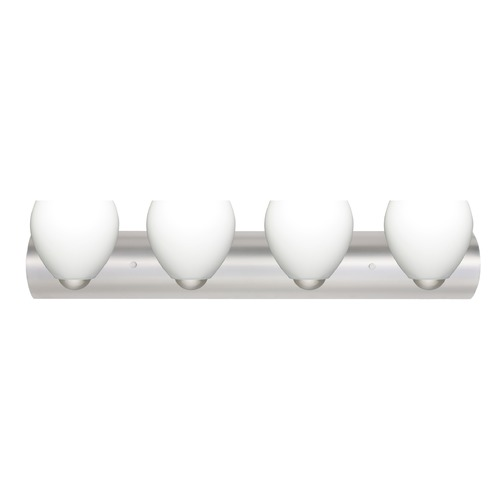 Besa Lighting Besa Lighting Bolla Satin Nickel LED Bathroom Light 4WZ-412207-LED-SN