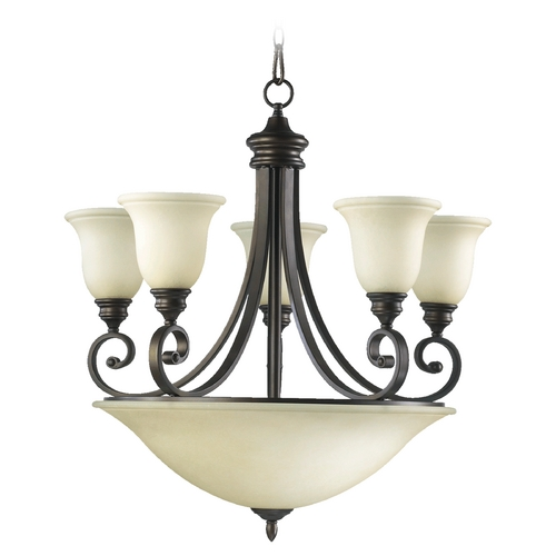 Quorum Lighting Quorum Lighting Bryant Oiled Bronze Chandelier 6254-9-86