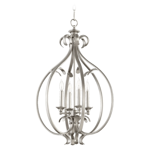Quorum Lighting Quorum Lighting Randolph Classic Nickel Pendant Light 6894-4-64