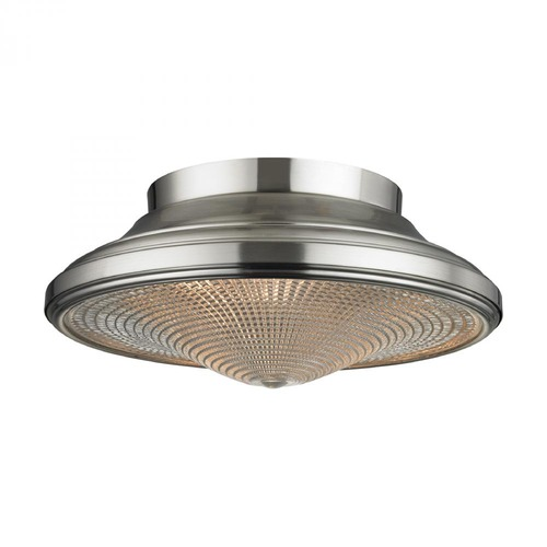 Elk Lighting Elk Lighting Urbano Brushed Nickel Flushmount Light 17240/2