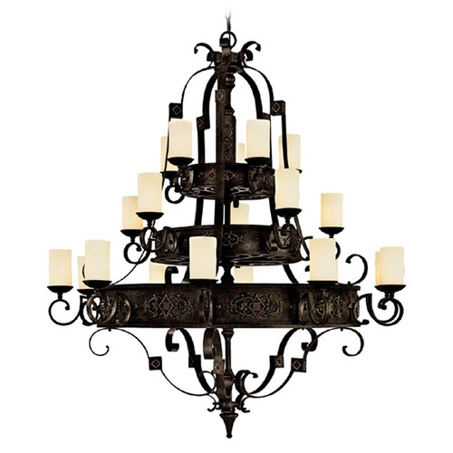 Capital Lighting Capital Lighting River Crest Rustic Iron Chandelier 3600RI-125