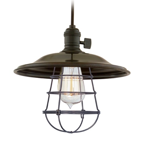 Hudson Valley Lighting Hudson Valley Lighting Heirloom Old Bronze Pendant Light with Bowl / Dome Shade 8002-OB-MS2-WG
