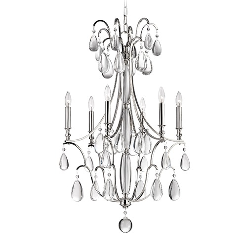 Hudson Valley Lighting Hudson Valley Lighting Crawford Polished Nickel Chandelier 9324-PN