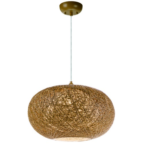 Maxim Lighting Maxim Lighting Bali Pendant Light with Oval Shade 14404NAWT