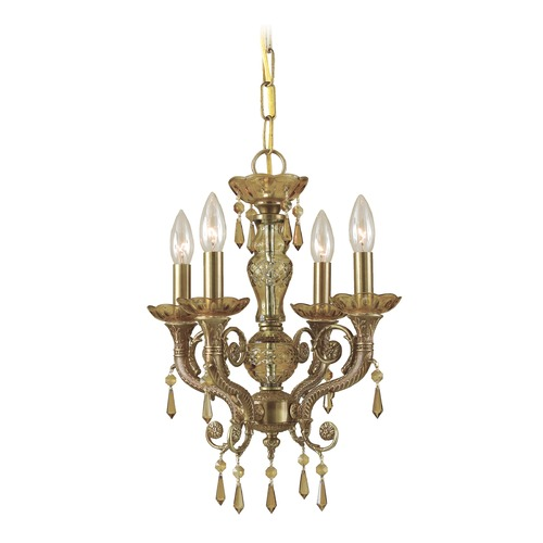 Crystorama Lighting Crystorama Lighting Regal Aged Brass Crystal Chandelier 5174-AG-GT-MWP