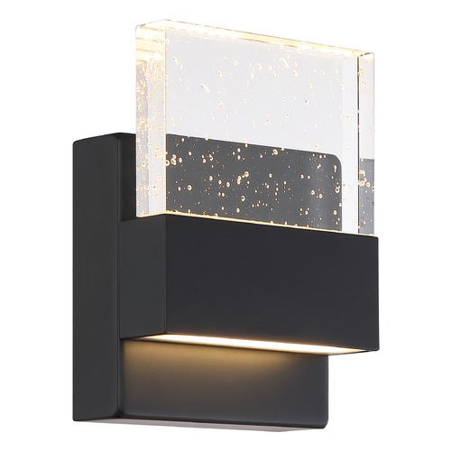 Nuvo Lighting Satco Lighting Ellusion Matte Black LED Sconce 62/1511
