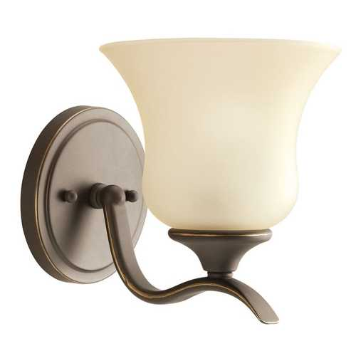 Kichler Lighting Kichler Sconce with Beige / Cream Shade in Olde Bronze Finish 10636OZ