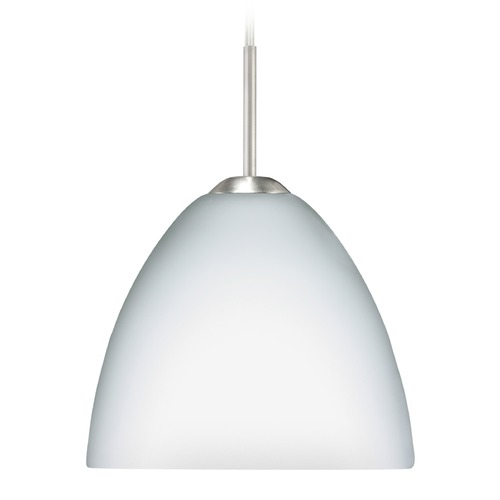 Besa Lighting Besa Lighting Sasha Satin Nickel Mini-Pendant Light with Bowl / Dome Shade 1BT-757207-SN