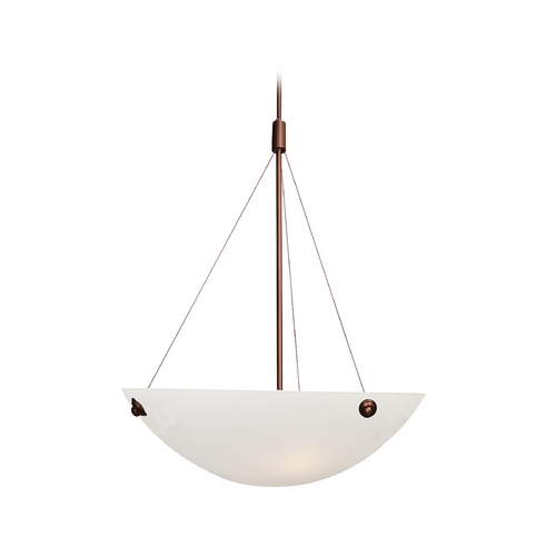 Access Lighting Modern Pendant Light with Alabaster Glass in Bronze Finish 23072-BRZ/ALB