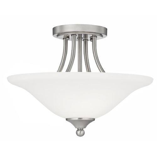 Design Classics Lighting Bethany Two-Light Semi-Flush Ceiling Light 7004-09