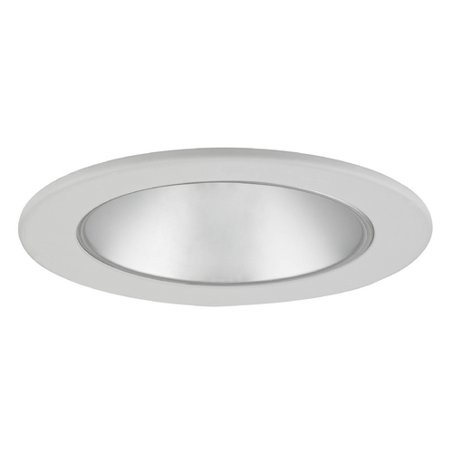 Recesso Lighting by Dolan Designs Satin Reflector GU10 LED Deep Trim for 4-Inch Line and Low Voltage Recessed Cans T402S-WH