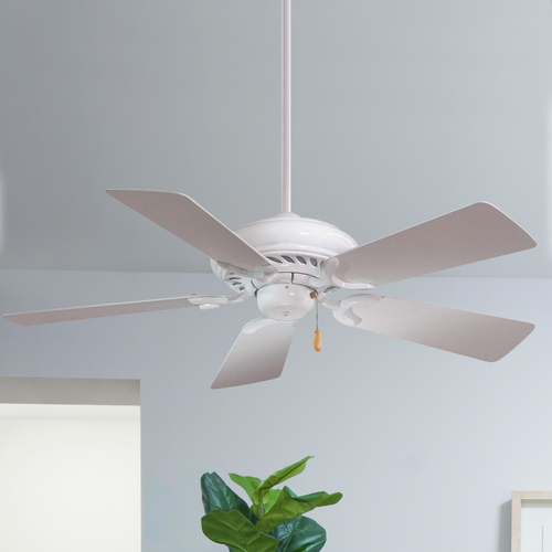 Minka Aire 44-Inch Ceiling Fan with Five Blades in White Finish with White Blades F563-WH