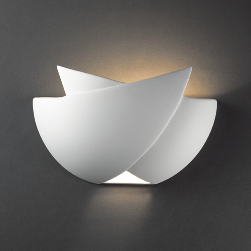 Justice Design Group Sconce Wall Light in Bisque Finish CER-2500-BIS