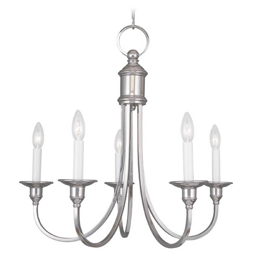 Livex Lighting Livex Lighting Coventry Polished Nickel Chandelier 5145-35
