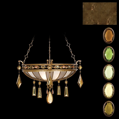 Fine Art Lamps Fine Art Lamps Encased Gems Bronze Patina Pendant Light 712240-1ST