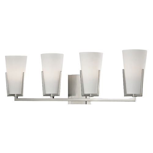 Hudson Valley Lighting Upton 4 Light Bathroom Light - Satin Nickel 1804-SN