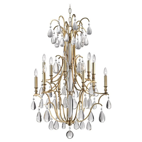 Hudson Valley Lighting Hudson Valley Lighting Crawford Aged Brass Chandelier 9329-AGB