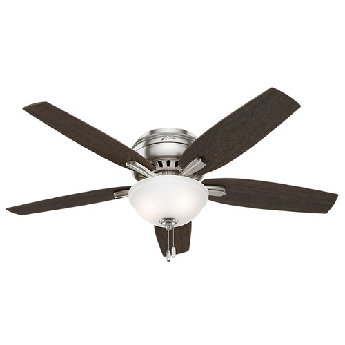 Hunter Fan Company 52-Inch Hunter Fan Newsome Brushed Nickel Ceiling Fan with Light 53315