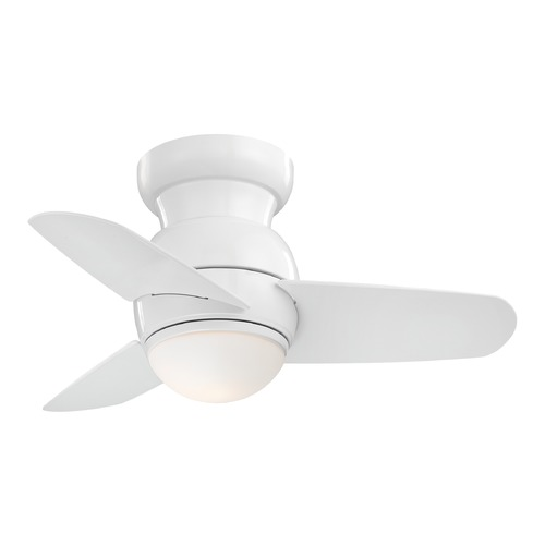 Minka Aire 26-Inch Minka Aire Spacesaver White LED Ceiling Fan with Light F510L-WH