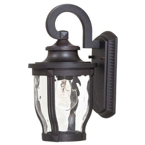 Minka Lavery Outdoor Wall Light with Clear Glass in Corona Bronze Finish 8761-166