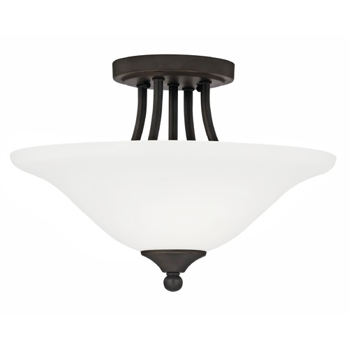 Design Classics Lighting Bethany Two-Light Semi-Flush Ceiling Light 7004-78
