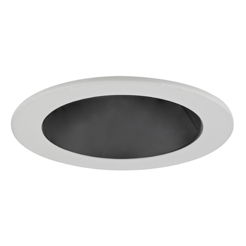 Recesso Lighting by Dolan Designs Black Reflector GU10 LED Deep Trim for 4-Inch Line and Low Voltage Recessed Cans T402B-WH